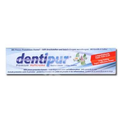 Cremă super adezivă cu mușețel și salvie - Dentipur Premium, 40 g, Helago Pharma
