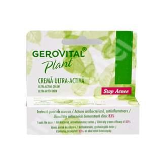Crema ultra-activa pentru ten acneic Gerovital Plant Stop Acnee, 15 ml, Farmec