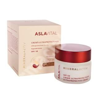 Crema ultraprotectoare SPF 50 Aslavital Mineralactive, 50 ml, Farmec