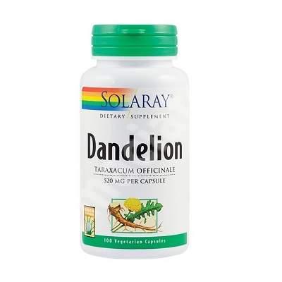 Dandelion (Păpădie) 520 mg Solaray, 100 capsule, Secom