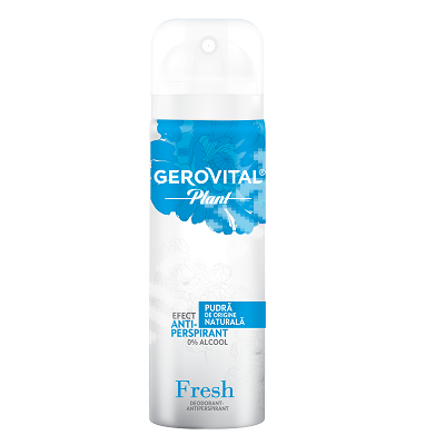 Deodorant-antiperspirant Fresh Gerovital Plant, 40 ml, Farmec