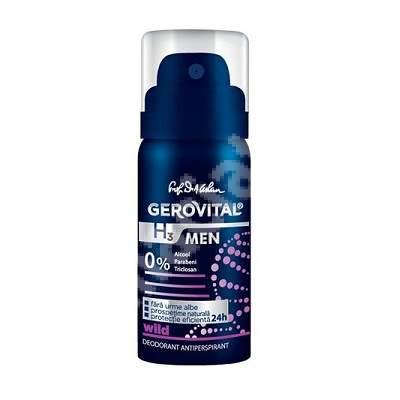 Deodorant antiperspirant Gerovita H3 Men Wild, 40 ml, Farmec