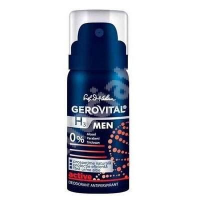 Deodorant antiperspirant Gerovital H3 Men Active, 40 ml, Farmec