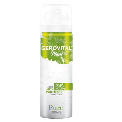 Deodorant-antiperspirant Pure Gerovital Plant, 150 ml, Farmec