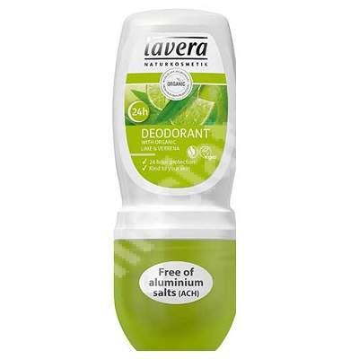 Deodorant roll-on lămâie verde și verbina, 50 ml, Lavera