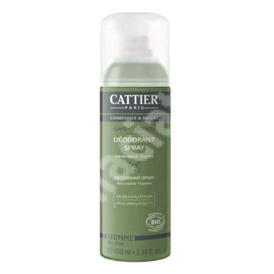 Deodorant spray Bi fara saruri de aluminiu si alcool pentru barbati Safe Control, 100 ml, Cattier
