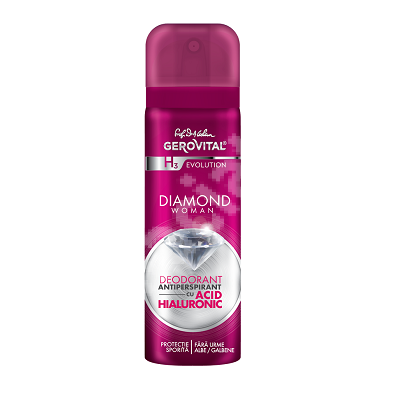 Deodorant spray Diamond Woman Gerovital H3 Evolution, 150 ml, Farmec