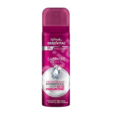 Deodorant spray Sapphire Woman Gerovital H3 Evolution, 150 ml, Farmec