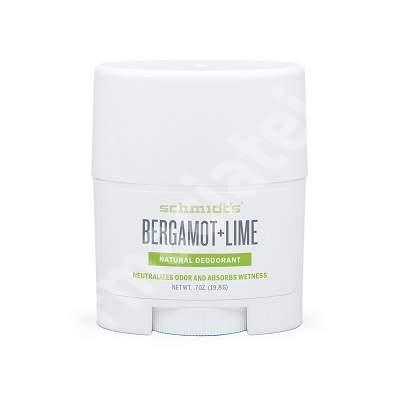 Deodorant stick Bergamota si Lamaie Verde, 19.8 g, Schmidt's