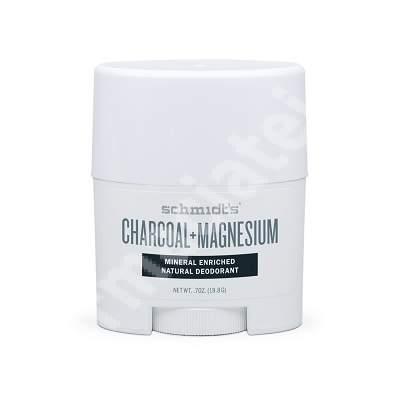 Deodorant stick Carbune si Magneziu, 19.8 g, Schmidt's