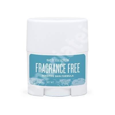 Deodorant stick fara miros pentru piele sensibila, 19.8 g, Schmidt's