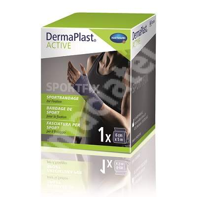 DermaPlast ACTIVE Sportfix bandaj pentru fixare (421324), 6 cm x 5 m, Hartmann
