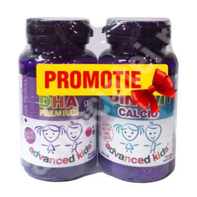 DHA Kids, 30 capsule + Dino-Vit+Calciu, 30 capsule, Cosmopharm