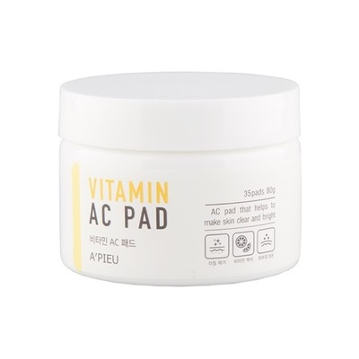 Dischete umede cu Vitamina C pentru luminozitate, 80 g, Apieu
