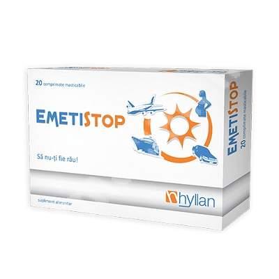 Emetistop, 20 comprimate, Hyllan