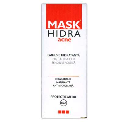 Emulsie hidratanta Mask Hidra Acne, 50 ml, Solartium Group