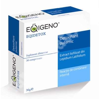 Eqidetox detoxifiant natural puternic, 36 comprimate, Eqigeno