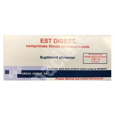 Est Digest, 30 comprimate, Arena