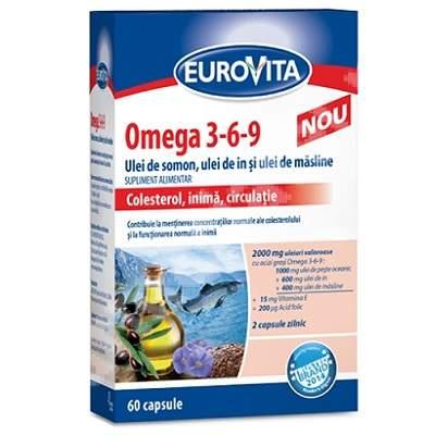 Eurovita Omega 3-6-9, 60 capsule, Eurovita