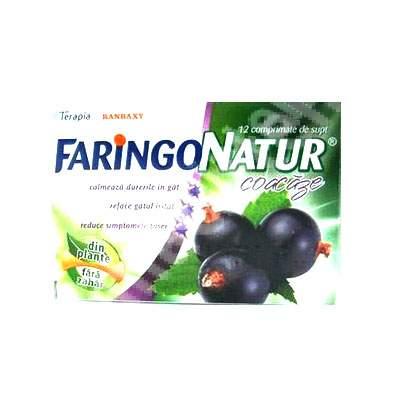 Faringo Natur coacăze, 12 comprimate, Terapia