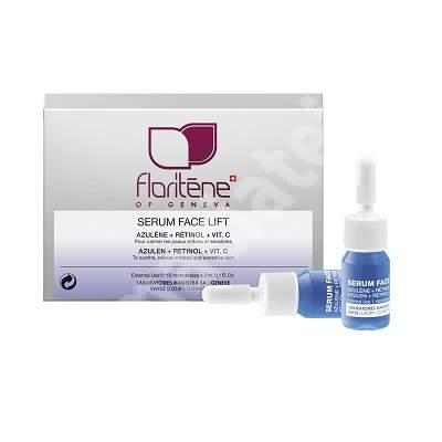 Fiole cu Azulen, Retinol si vitamina C pentru pielea fragila si iritata (170), 10x3 ml, Floritene