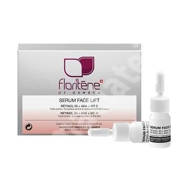 Fiole cu Retinol 50 + AHA + Vitamina C (178), 10 bucati, Floritene