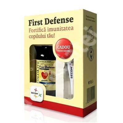 First Defense Sirop Childlife Essentials, 118.5 ml, Secom + Termometru