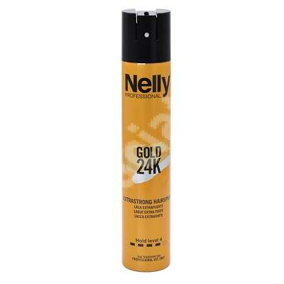 Fixativ foarte puternic Gold 24K Extrastrong, 300 ml, Nelly Professional