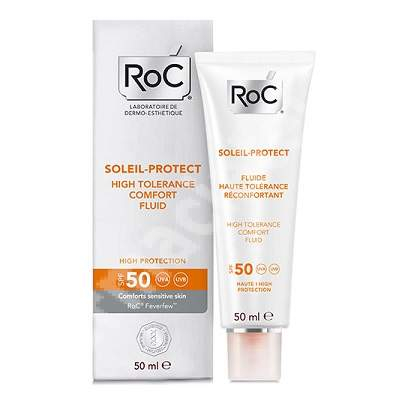 Fluid confort piele sensibila SPF 50 Soleil-Protect, 50 ml, Roc