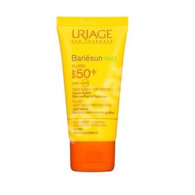 Fluid hidratant cu SPF 50+ Bariesun Mat, 50 ml, Uriage