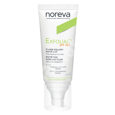 Fluid matifiant protector SPF 50+ Exfoliac, 40 ml, Noreva