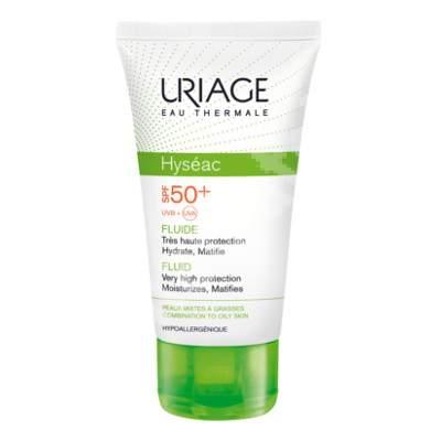 Fluid protecție solară ten mixt-gras Hyseac SPF 50+, 50 ml, Uriage