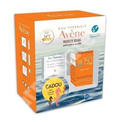 Fluid SPF 50+ Avene, 50 ml + Apa termala spray Avene, 150 ml, Pierre Fabre