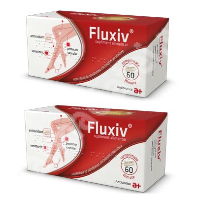 Fluxiv, 60 + 60 comprimate, Antibiotice SA ( 1 + 1)