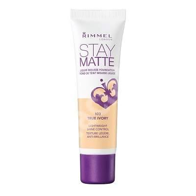 Fond de ten Stay Matte 103 True Ivory, 30 ml, Rimmel London