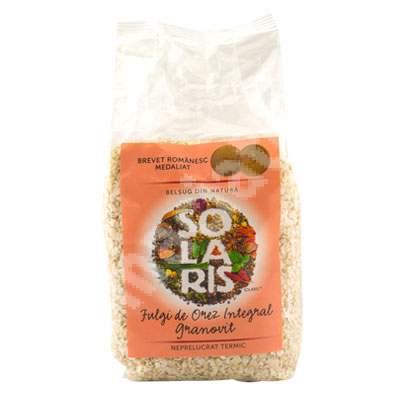 Fulgi de cereale din orez integral, 400 g, Solaris