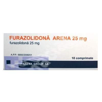 Furazolidona Arena 25 MG, 10 comprimate, Arena Group