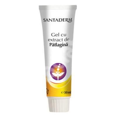 Gel cu extract de pătlagină, Santaderm, 50 ml, Vitalia