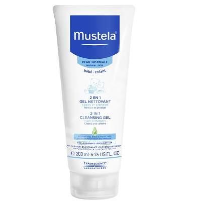 Gel de curățare 2 în 1 păr și corp, 200 ml, Mustela