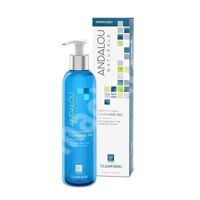 Gel de curățare purificator și echilibrant pentru ten gras sau acneic Clear Skin Andalou, 178 ml, Secom