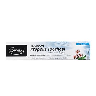Gel de dinți fără flour cu propolis și Tea Tree Cool Mint, 90 g, Comvita