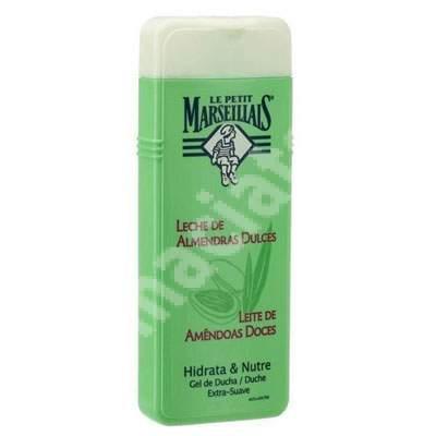 Gel de dus hidratant cu lapte de migdale dulci, 400 ml, Le Petit Marseillais