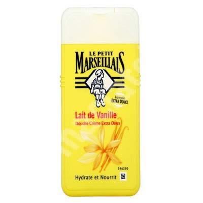 Gel de dus hidratant cu lapte de vanilie, 400 ml, Le Petit Marseillais