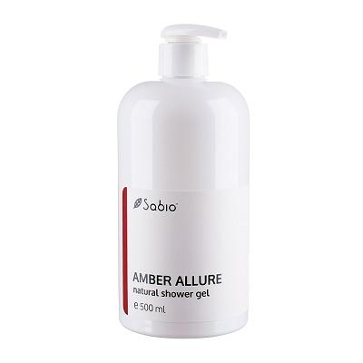 Gel de dus natural Amber Allure, 500 ml, Sabio