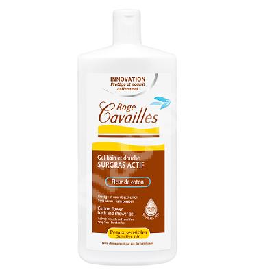 Gel de dus pentru piele sensibila Floare de bumbac, 300 ml, Roge Cavailles