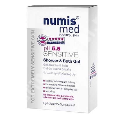 Gel de dus Sensitive pH 5.5, 200 ml, Numismed