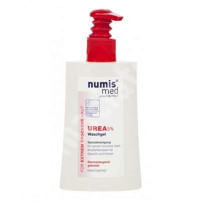 Gel de spalare dermatocosmetic cu uree 5% pentru piele uscata si foarte uscata, 200 ml, NumisMed