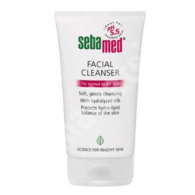 Gel dermatologic de curatare pentru fata-ten uscat si normal, 150 ml, Sebamed