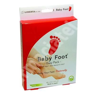 Gel pentru picioare pentru indepartarea pielii moarte Baby Foot Easy Pack, Natura Ecopharm