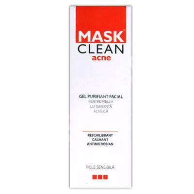 Gel purifiant facial Mask Clean Acne, 150 ml, Solartium Group